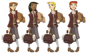 Zork- Female Hero 1 Designs by Zubby