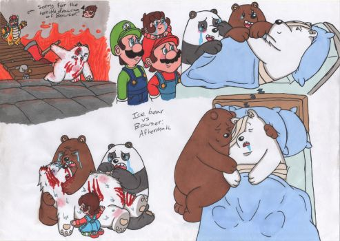 Bowser vs Ice bear aftermath by JessicaMario