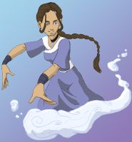 Waterbending Champ con color by labarbara
