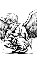 The Angel Thief - B and W by Froggr