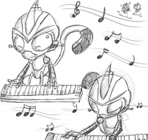 WIP// Playing on the Piano~Music // by DigiHopeheart