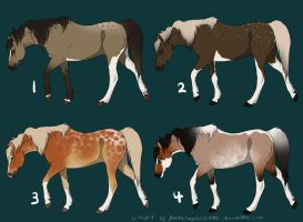 :: natural equine batch :: 1 :: 200pts each by KamikazeOverMe