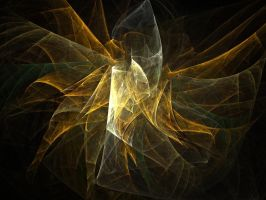 Golden Abstract by Aeires