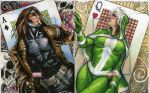 Gambit and Rogue Marvel Universe Artist Proofs by RichardCox