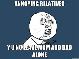 Annoying Relatives Y U NO by NatariSaru