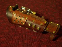 Steampunk Gauntlet by GrandGothicLeather