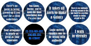Doctor Who Old School Buttons by Fangirls-Trilogy