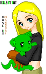 Terra holding BB Puppy by DaILK-ness