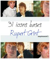 31 icons bases Rupert Grint by megalomaniaCi