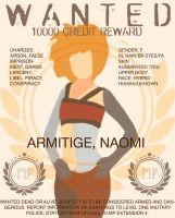 Naomi's Wanted Poster by Xadrea