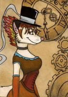 Clockwork lady by FoxInShadow
