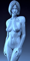 Cortana - Halo 4 - Model 8b by solarnova1101