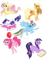Mane Six Sticker Art by AbigailJarvis