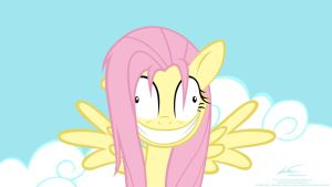 Crazy Fluttershy by lazcreations