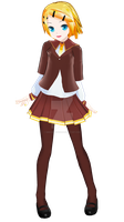 .:MMD Newcomer:. LAT PDFStyle Trade School Rin WIP by MMDAnimatio357