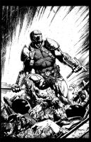 Deathstroke 8 cover inks by jayfabs