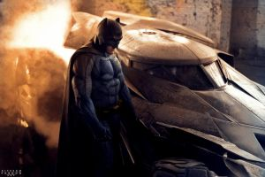 BEN AFFLECK AS BATMAN RE-EDIT. by spidermonkey23