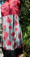 DRESS Rockabilly Tattoo Butterfly Rose Cherry Red by SewObession