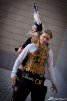 Fran and Balthier by FallingFeathers