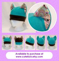 Bright Paisley Cat Hat by cutekick