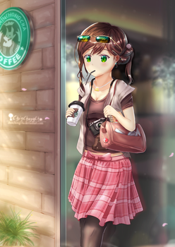 At the Cafe by chinchongcha