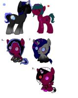Lunar illusion and mysterys babeis (adopts) by Madasaurus