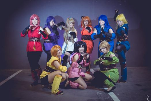 LLSIF - The Ninja formation by adiefirebones