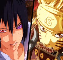 Naruto 673 Collab - Sasuke and Naruto by DesignerRenan