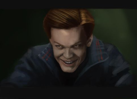 quick study of Cameron Monaghan in gotham by TaktilxxB