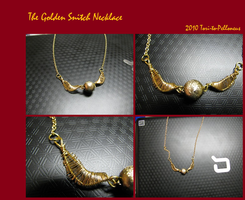 Golden Snitch Necklace by Tori-to-Pelloneus