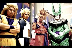 SSJ'S and Perfect Cell by maiabest9381