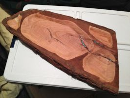Mesquite Tray Hollowed Out W Turoise by lamorth-the-seeker