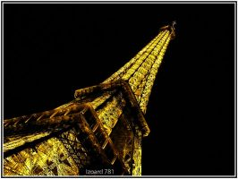 Eiffel Tower at night by izoard781