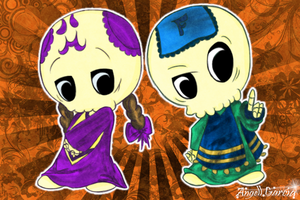 Las Calaveritas by angell0o0