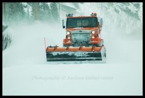 Oncoming Snowplow by Kaessa