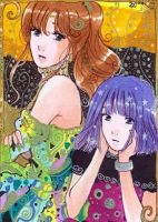 ACEO Jupiter and Saturn by Toffi-Fee