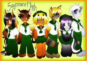 Sayonara High: New Uniforms by VesteNotus