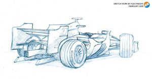 Sketch work F1 Backside by AlexKnight