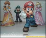 Mario, Peach, Daisy and Luigi. by enrique3