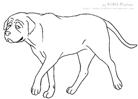 Lineart - Mastiff by ANBU-Flashez