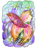 betta fish tweeked by jupiterjenny