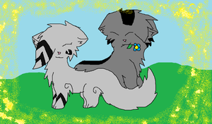 Silverstream and Graystripe by Aura-Q