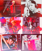yongguk in red by gdomination
