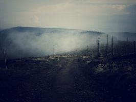 In the mist by the hills by Topielica666