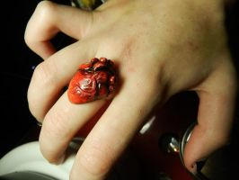 Anatomical Heart Ring by PoisonJARCreations