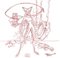 Vintage Work : Rough CatWoman by tnperkins