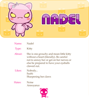 Nadel the Pink Kitty by mAi2x-chan