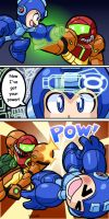MegaMan Vs Samus by rongs1234