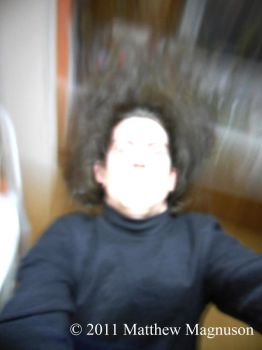 Motion Blur Self Portait - col by PigsCanFly2day