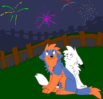 The Fireworks by Toby-Wolfkat